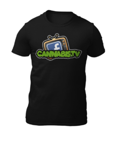 Black Cannabis.TV logo tee
