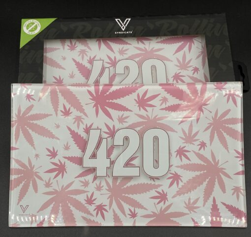 V Syndicate 420 Pink Rolling Tray